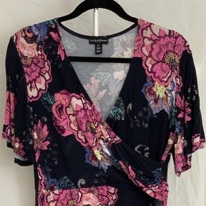 Tribal Femme Navy with Pink Floral Summer Dress